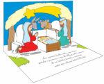 Natale – biglietto pop-up della Sacra Famiglia