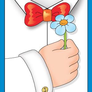 Biglietto Festa del papà con fiore