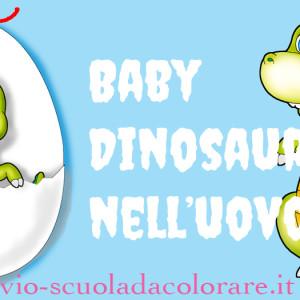 Baby Dinosauro nell'uovo