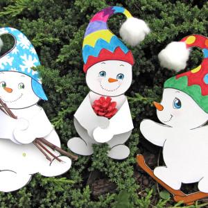 Inverno – pupazzi di neve da appendere