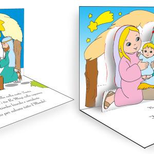 Natale – biglietti pop-up della Sacra Famiglia