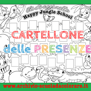 Cartellone delle presenze: La Happy Jungle School