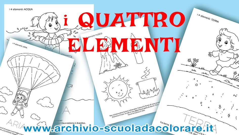 I Quattro Elementi Acqua Terra Aria Fuoco