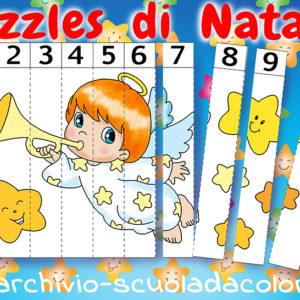 Puzzles numerati di Natale