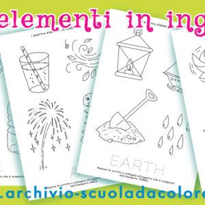 Inglese – i 4 elementi