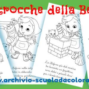 Befana, disegni da colorare con filastrocche