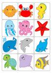Gioco Memory con i pesci