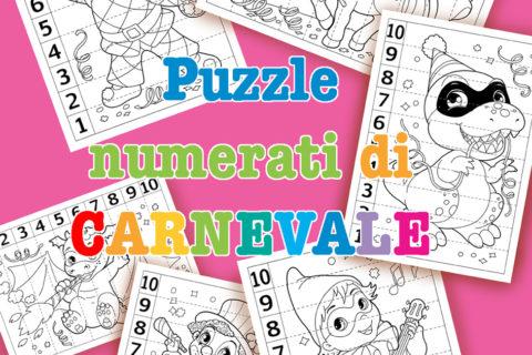 puzzle numerati di carnevale