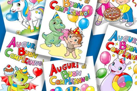 disegni di buon compleanno da colorare